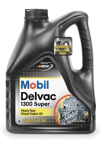 Mobil 1 112786 Delvac 1300 Super 15W-40 Diesel Engine Oil 4 Gallon Pack